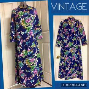 💙 VINTAGE floral MAXI dress!